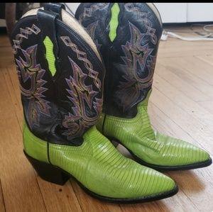 Dan Post Genuine Lizard Cowboy Boots